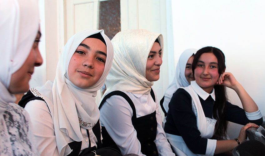 Young people attending a seminar about knowing their rights and the dangers of early marriage
