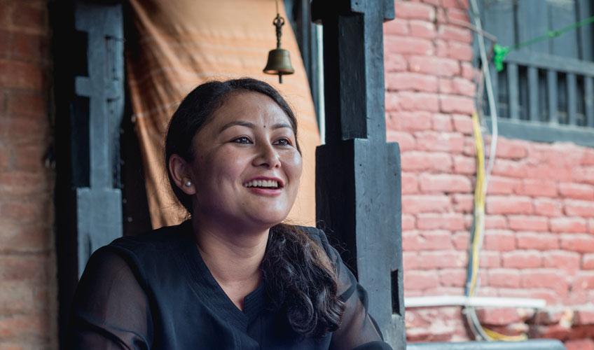 Female photojournalist Shruti Shrestha