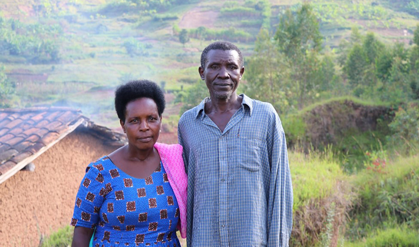 Francine and her husband Theogene in their community.