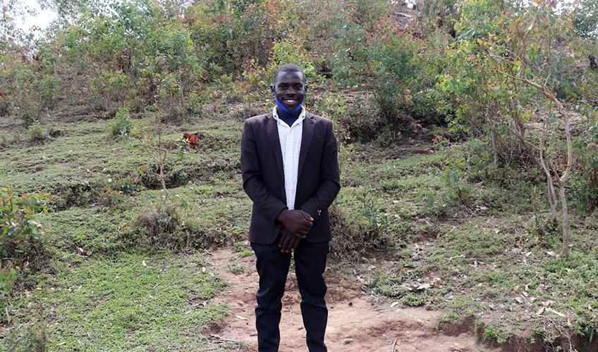 Ntirandekura Jean Claude in his home district.