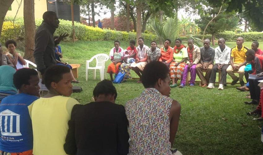 Youth attending a Duhuze forum dialogue session in Busogo sector, Musanze district, Rwanda