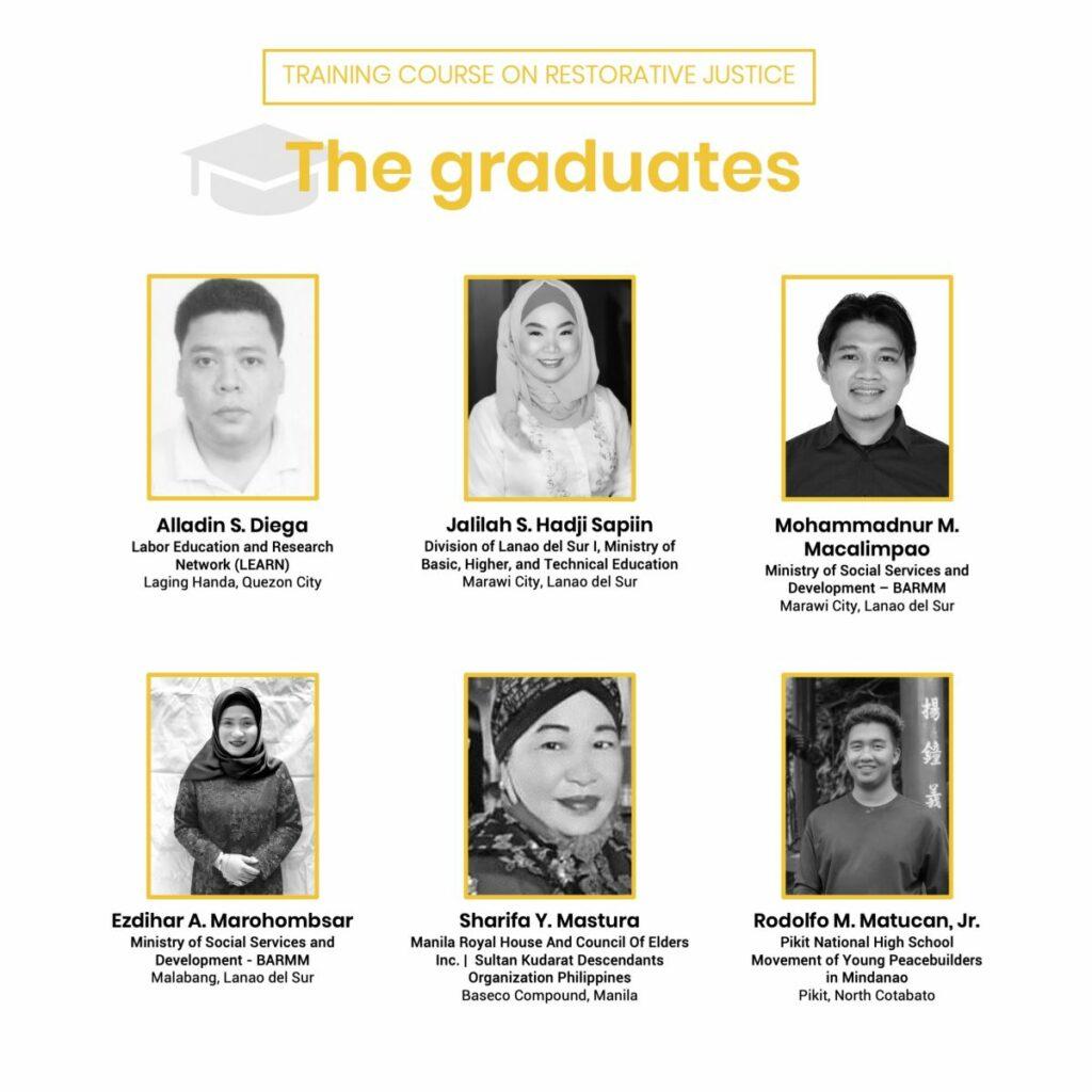 Training course on restorative justice graduates